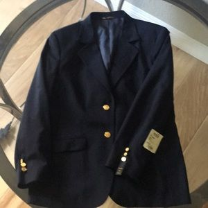 Navy Blue Blazer with Gild Buttons NWT